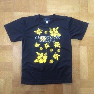 画像1: ハイビスカスプラクティスシャツblack*yellow