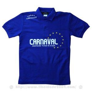 画像1: CARNAVALポロシャツ BLUE