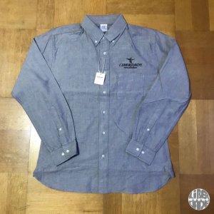 画像1: LIBERDADE オックスフォード ワンポイント ボタンダウン ロングスリーブシャツ